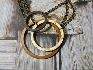 Trio Circle Necklace- all three colors, One necklace