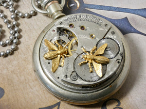 Steampunk Vintage Altered Pocket Watch Necklace