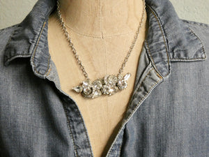 One of a Kind Vintage Brooch Necklace