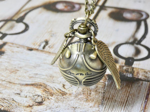 Quidditch Pocket Watch Necklace - Harry Potter Inspired Watch