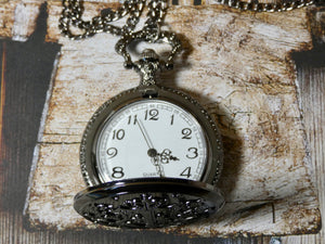 Pocket Watch Necklace - Gunmetal Harry Potter Inspired
