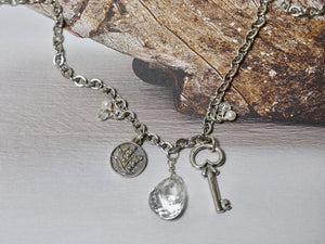 Sterling Silver Key Necklace