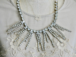 One of a Kind Vintage Rhinestone Statement Necklace, A perfect Display Necklace