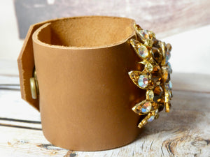 Vintage Cuff Bracelet, repurposed brooch