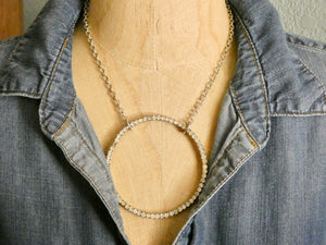 One of a Kind Vintage Rhinestone X-Large Circle Necklace
