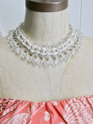 Vintage Crystal Necklace, One of a Kind rare piece, Belt or Necklace