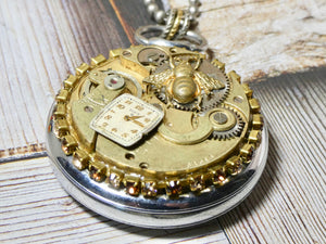Steampunk Altered Pocket Watch Necklace