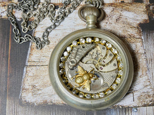Altered Pocket Watch Necklace