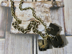 One Of a Kind Vintage Typeset Necklace