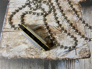 Harmonica Necklace- Swan Harmonica, Five Fun Colors