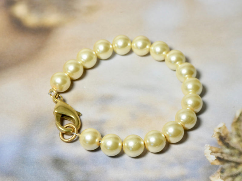 Vintage Pearl Bracelet, Beautiful Creamy Large Pearls