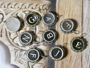 Typewriter Key Necklace • Letters A to Z