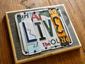 LIVE Custom License Plate Sign