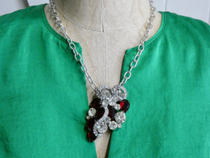 Repurposed Vintage Brooch Necklace
