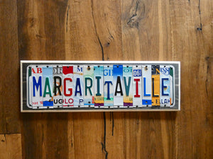 Margaritaville License Plate Sign