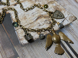 One of a Kind Vintage Assemblage Necklace