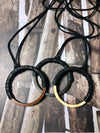 Circle Necklace with Leather