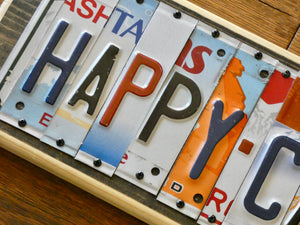 Happy Camper License Plate Sign