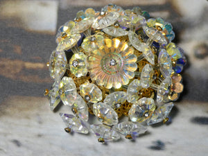 Vendome One of a Kind Vintage Crystal Brooch