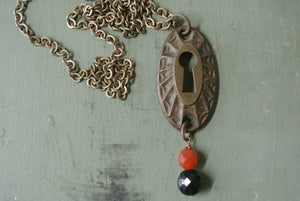 Vintage Key Hole Necklace