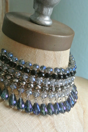 Boho Crystal Beaded Choker