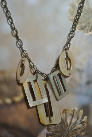 One of a Kind Vintage Belt Buckle Necklace