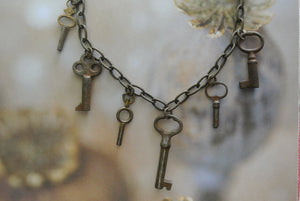 Vintage Multi Skeleton Key Necklace