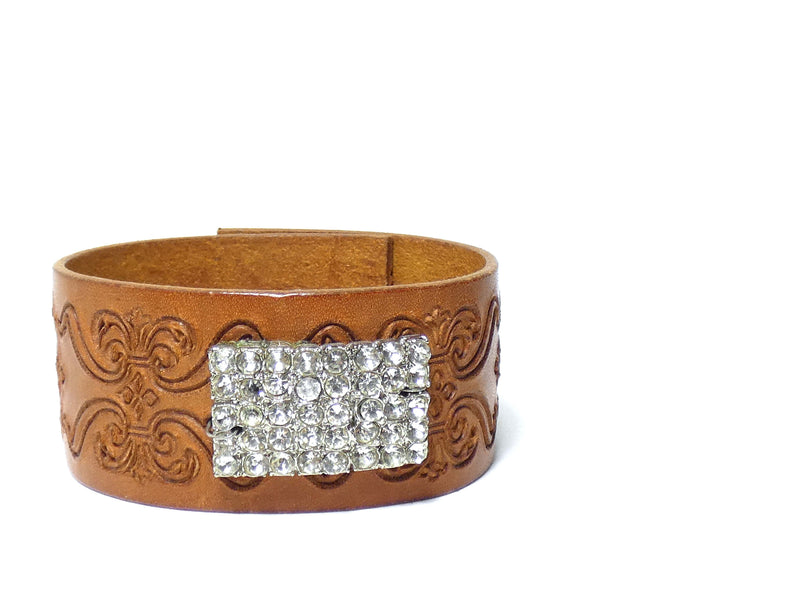 One of a Kind Vintage Leather Cuff