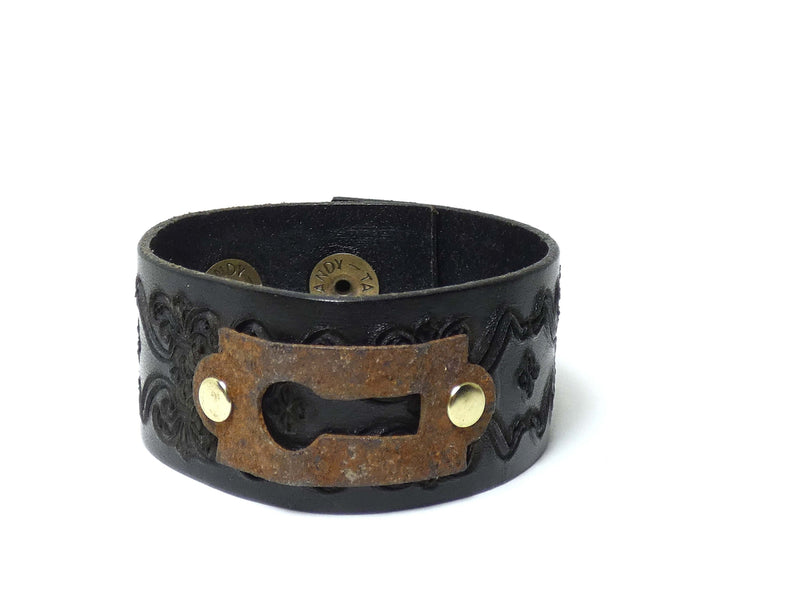 Leather Key Hole Cuff Bracelet