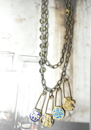 One of a Kind Girl Scout Pin Charm Necklace