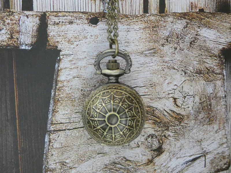 Pocket Watch Necklace - Brass Mystical Globe Design