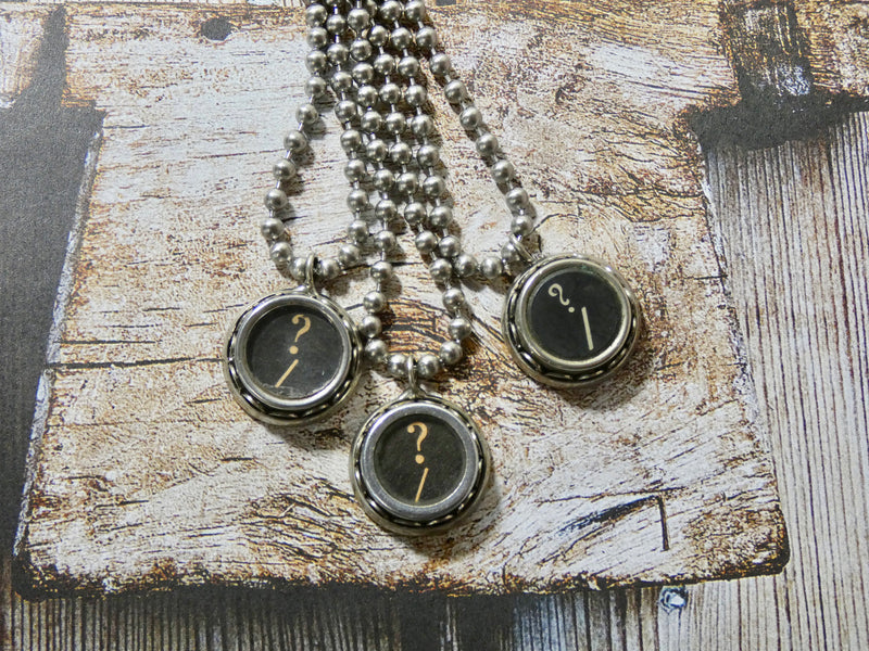 Typewriter Question Mark Necklace - Authentic Typewriter Key