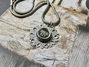 Typewriter Key Necklace • Tabular Key Authentic Typewriter Key