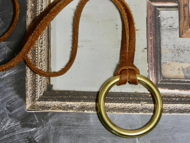 Leather O Ring Necklace
