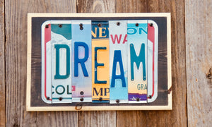 Dream License Plate Sign