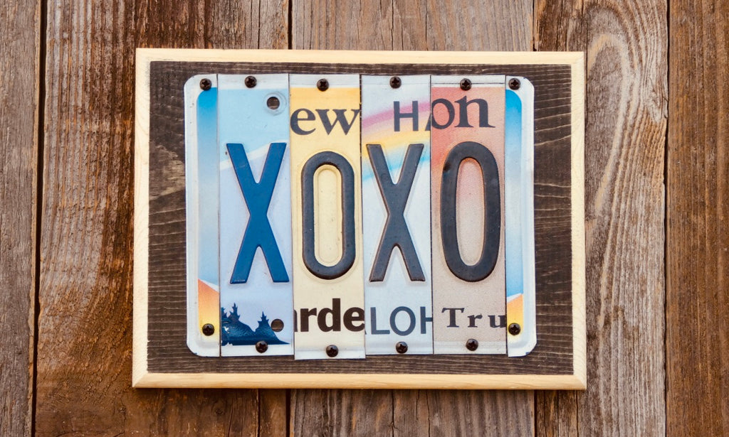 XOXO License Plate Sign