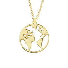 Laden Sie das Bild in den Galerie-Viewer, 'Worldmap' Kette - Gold