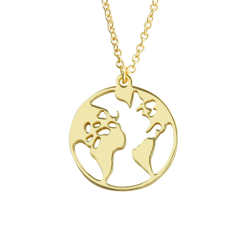 'Worldmap' Kette - Gold