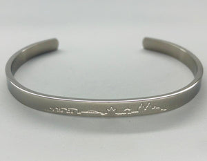 "Bangle ""Skyline"" Silber"