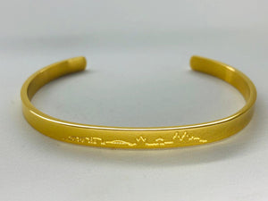 "Bangle ""Skyline"" Gold"