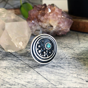 Large Circle Stargazer Ring