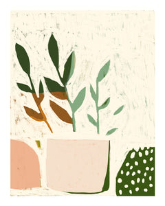 Abstract Plant no.2 Print