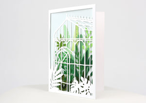 Glass House Greeting Card (Set of 2)