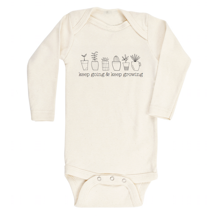 Keep Going & Keep Growing - Organic Onesie, Long Sleeve