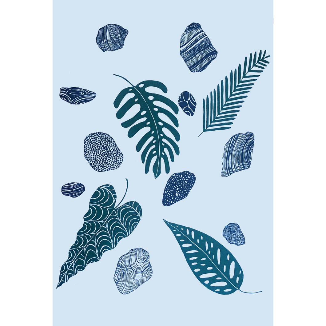Leaves and Stones Print