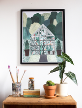 Load image into Gallery viewer, Garden Greenhouse Print