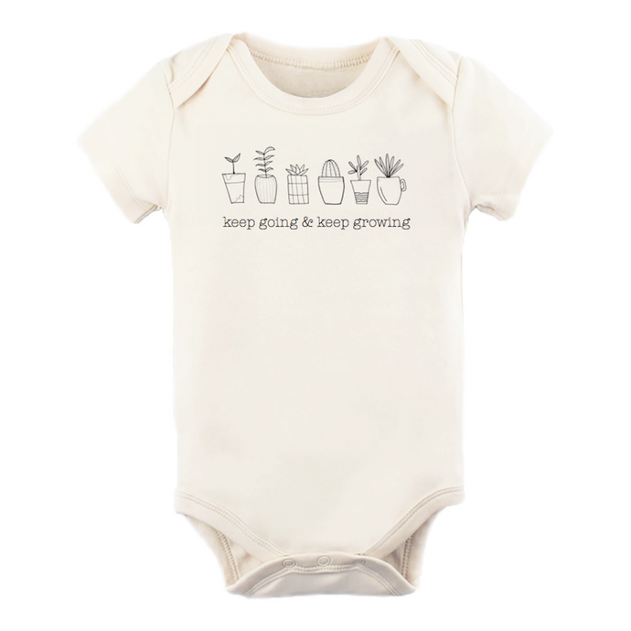 Keep Going & Keep Growing - Organic Onesie, Short Sleeve