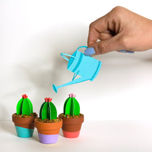 Cut Paper Cactus with Blooming Flower