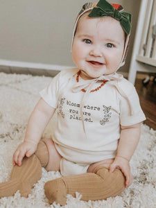 Bloom Where You Are Planted - Organic Onesie, Short Sleeve