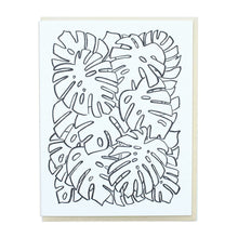 Load image into Gallery viewer, Monstera Letterpress Greeting Cards (Set of 6)